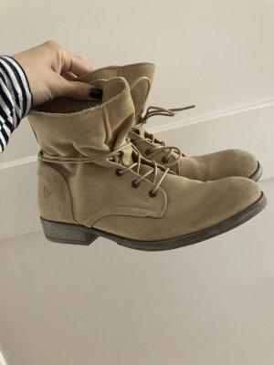 Tamaris beige Boots Stiefeletten wild Leder 40