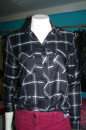 fashletics by Tamaris Geruite blouse zwart Viscose