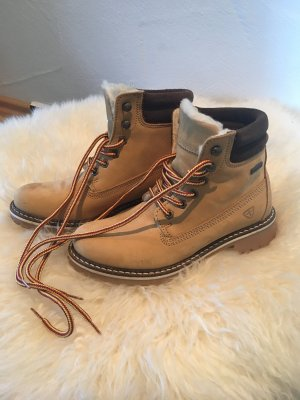 Tamaris Snow Boots beige leather