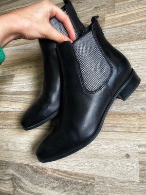Tamaris Ankle Boots black-silver-colored leather