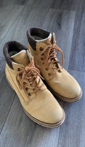 Tamaris Bottes à lacets brun sable-brun foncé