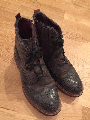 Tamaris Boots Stiefeletten Lack Khaki 39