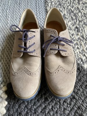 Tamaris Wingtip Shoes dark blue-light grey