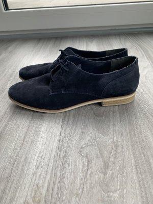 Tamaris Wingtip Shoes dark blue