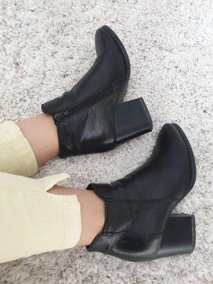 Tamaris Chelsea Boots 36 Echtleder Stiefeletten Stiefel Blockabsatz Pumps