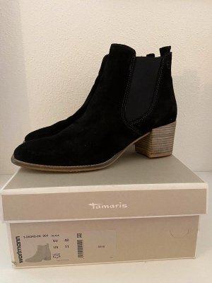 Tamaris Botas deslizantes negro-beige