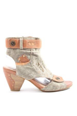 Tamaris Botas cut out gris claro-marrón look casual
