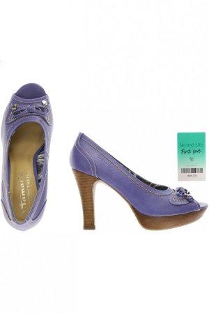 Tamaris Damen Pumps Peeptoe Gr. 38 violett NEU wertig