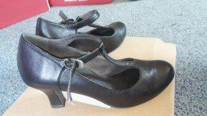 Tamaris Backless Pumps black leather