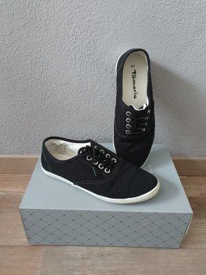 Tamaris Damen Sneaker Canvas schwarz Schnürer Textil