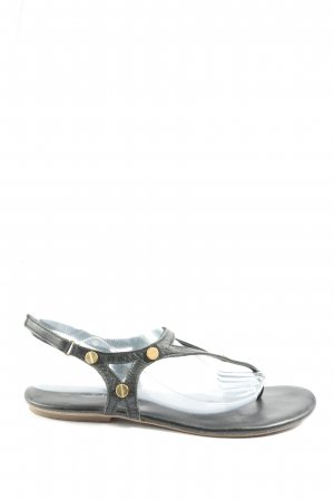 Tamaris Sandalias Dianette negro-color oro look casual