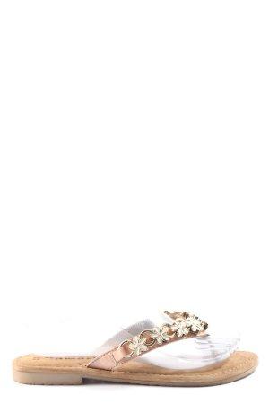 Tamaris Sandały japonki w kolorze białej wełny W stylu casual
