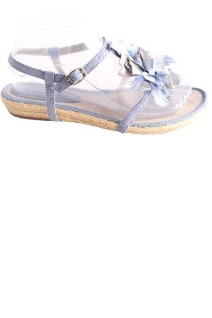 Tamaris Sandalias Dianette azul-blanco puro look casual