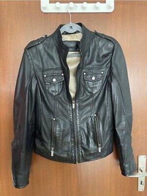 Tamaris Leather Jacket black