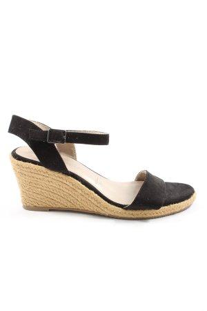 Tamaris Espadrilles-Sandalen schwarz Elegant