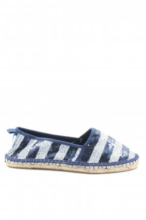 Tamaris Espadrille Sandals blue-white casual look