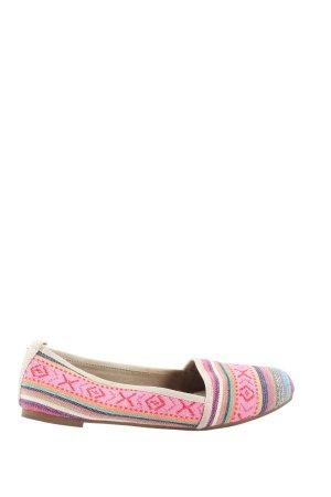 Tamaris Espadrilles-Sandalen pink-wollweiß Streifenmuster Casual-Look