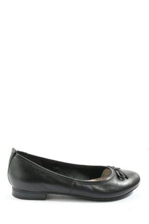 Tamaris Foldable Ballet Flats black business style