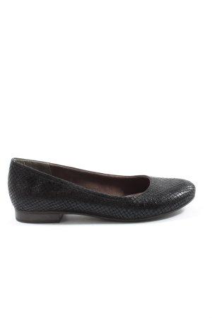 Tamaris Foldable Ballet Flats black allover print casual look