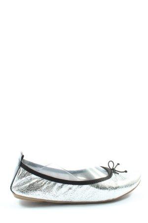 Tamaris Foldable Ballet Flats silver-colored-black elegant