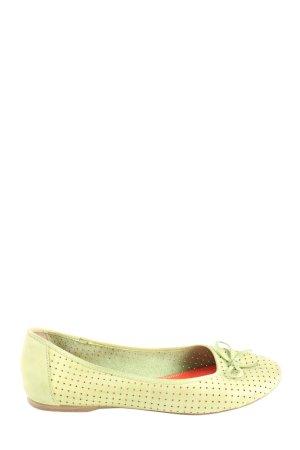 Tamaris Foldable Ballet Flats green casual look