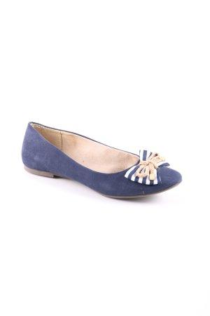 Tamaris faltbare Ballerinas blau Casual-Look