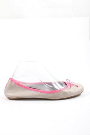 Tamaris Bailarinas plegables crema-rosa elegante