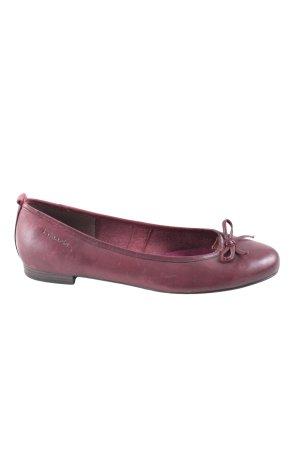 Tamaris Foldable Ballet Flats bordeaux casual look