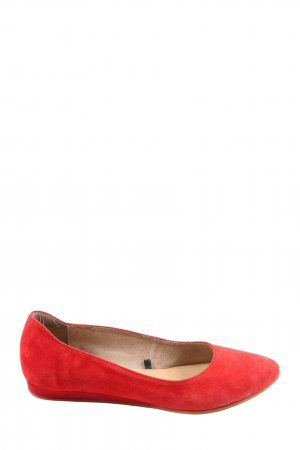 Tamaris Bailarinas plegables rojo Cuero