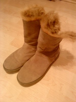 Tamaris Fellboots Wildleder Stiefel beige 40