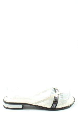 Tamaris Flip Flop Sandalen schwarz-weiß Casual-Look