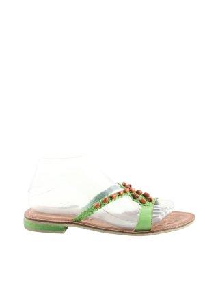 Tamaris Flip Flop Sandalen grün-braun Casual-Look