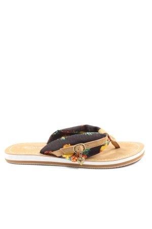 Tamaris Flip-Flop Sandals flower pattern casual look