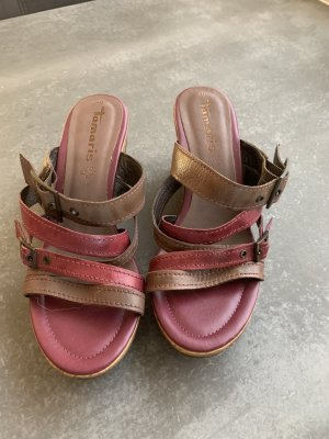 Tamaris Wedge Sandals multicolored leather