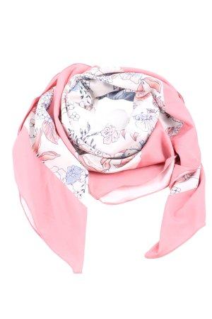 Tamaris Halstuch pink-wollweiß Blumenmuster Business-Look