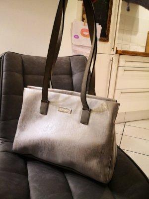 Tamaris Handtasche Shopper Silber Glitzer