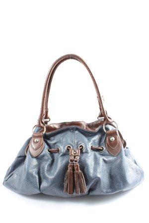 Tamaris Schultertasche blau-braun Casual-Look