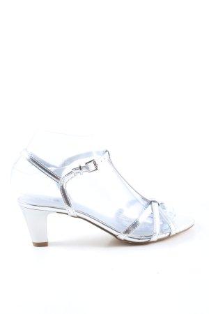 Tamaris Sandały na obcasie srebrny W stylu casual