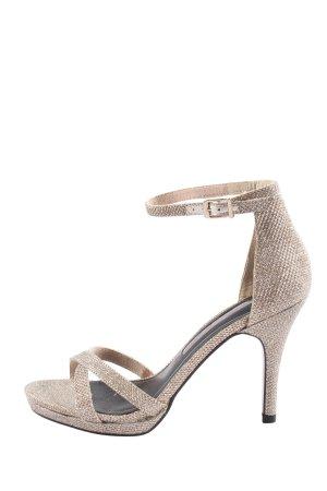 Tamaris High Heel Sandaletten creme Casual-Look