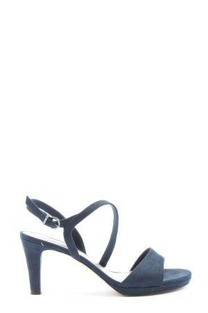 Tamaris High Heel Sandaletten blau Casual-Look