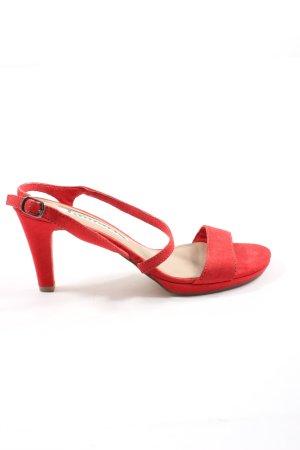 Tamaris High Heel Sandaletten rot Casual-Look