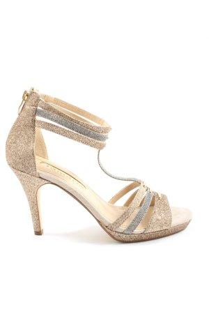 Tamaris High Heel Sandaletten goldfarben-silberfarben Elegant