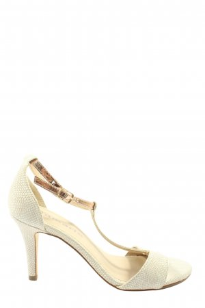 Tamaris High Heel Sandaletten wollweiß Elegant