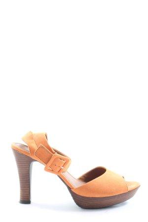Tamaris High Heel Sandaletten hellorange Casual-Look