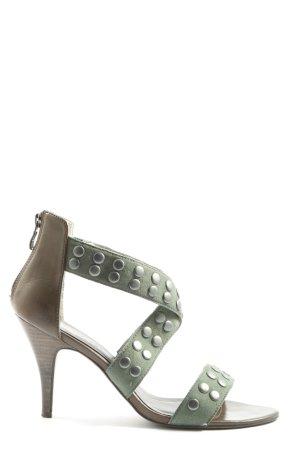 Tamaris High Heel Sandaletten grün-braun Elegant