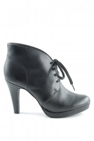 Tamaris High Heel Stiefel schwarz Logo-Applikation