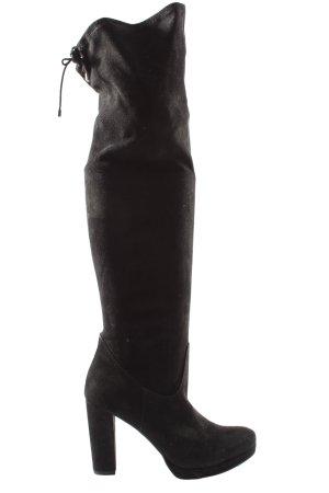 Tamaris Wysokie buty na obcasie czarny W stylu casual