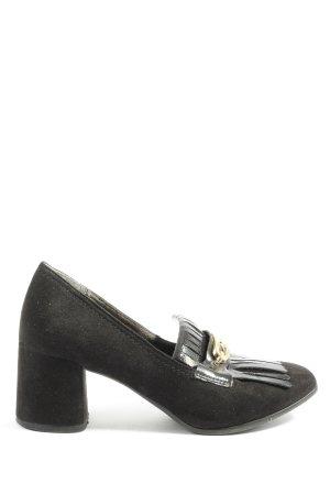 Tamaris High Heels schwarz-goldfarben Casual-Look