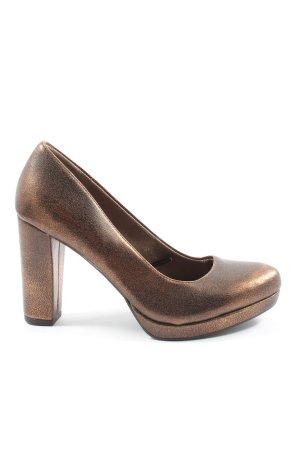 Tamaris High Heels bronzefarben Glanz-Optik