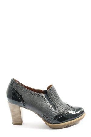Tamaris High Heels schwarz-hellgrau Business-Look